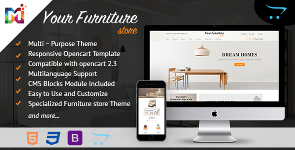 Responsive Multipurpose OpenCart Theme - OpenCart eCommerce