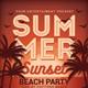 Summer Sunset Beach Party