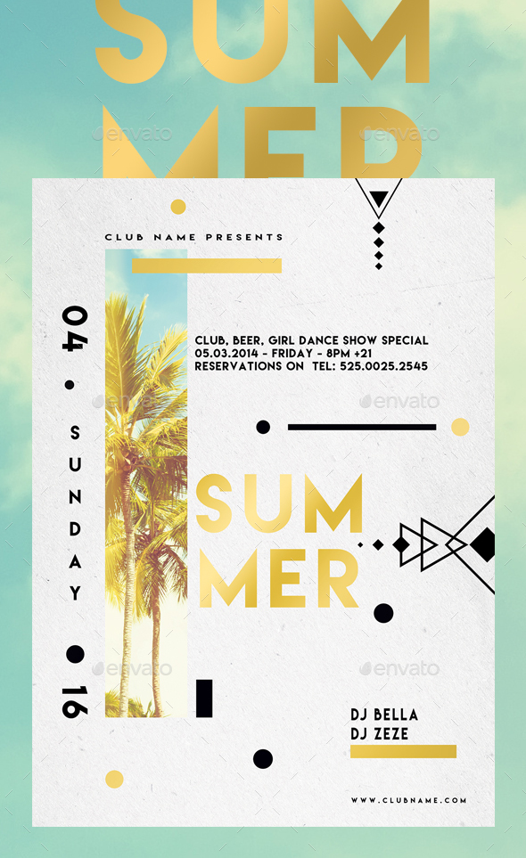 Summer Abstract - Events Flyers