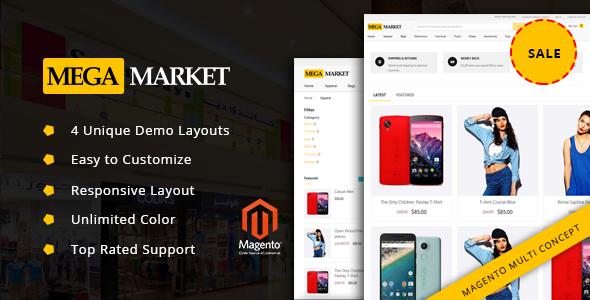 MegaMarket – Premium Responsive Magento Theme - Shopping Magento