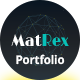 MatRex Creative Portfolio Template - ThemeForest Item for Sale