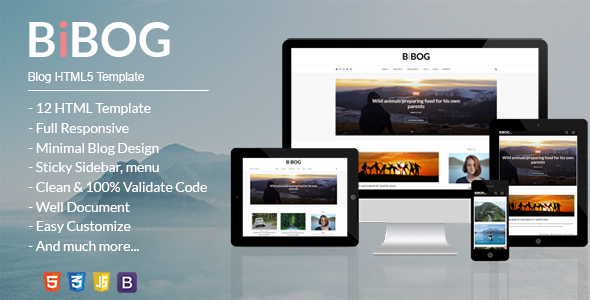 BiBOG – Blog HTML5 Template