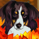 Dog in fall leaves - GraphicRiver Item for Sale