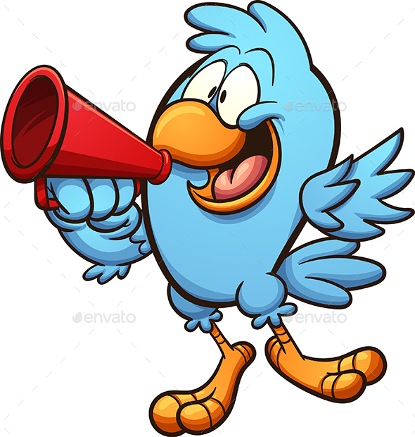 Bird with Megaphone - Animals Characters