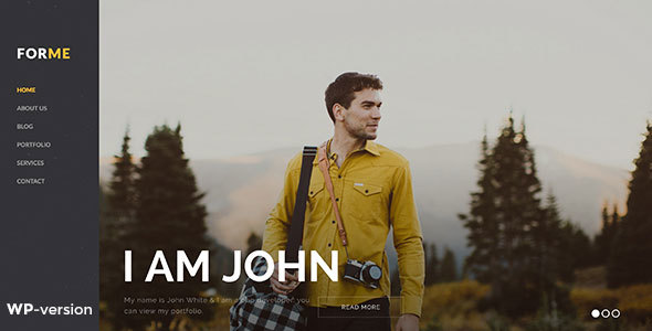 Forme – Photography & Personal WordPress Theme