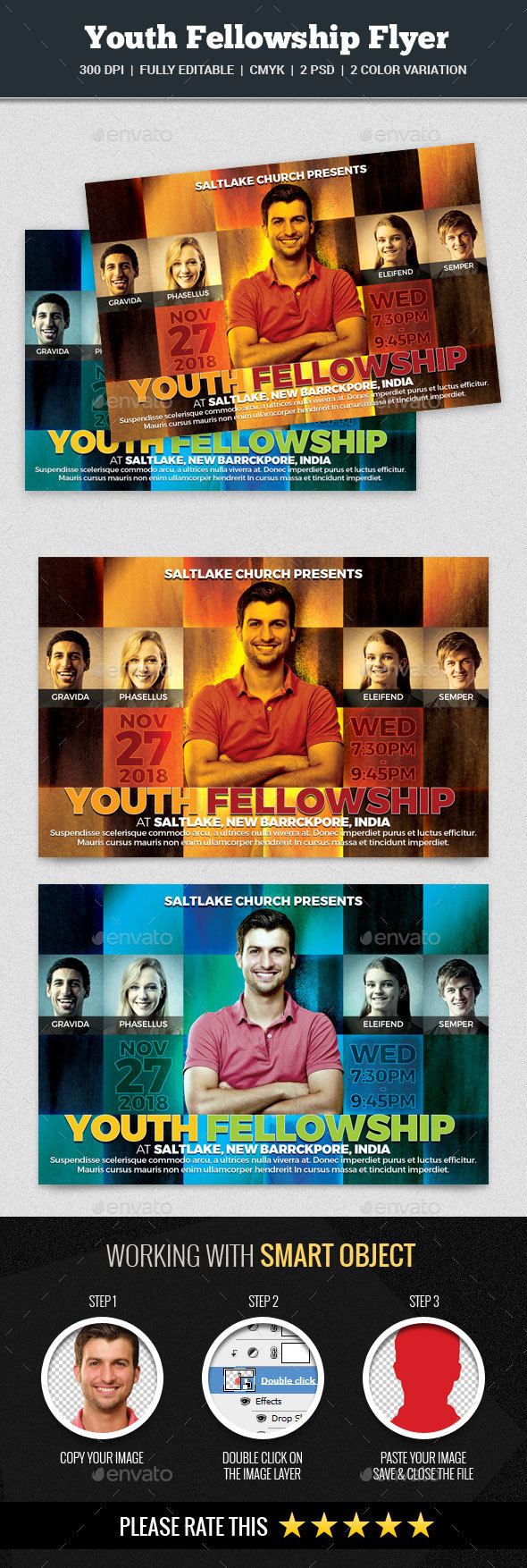 Youth Fellowship Church Flyer - Church Flyers