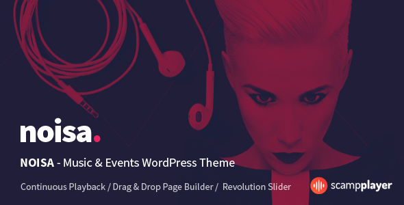 Noisa - WordPress Music & Events Theme - Music and Bands Entertainment