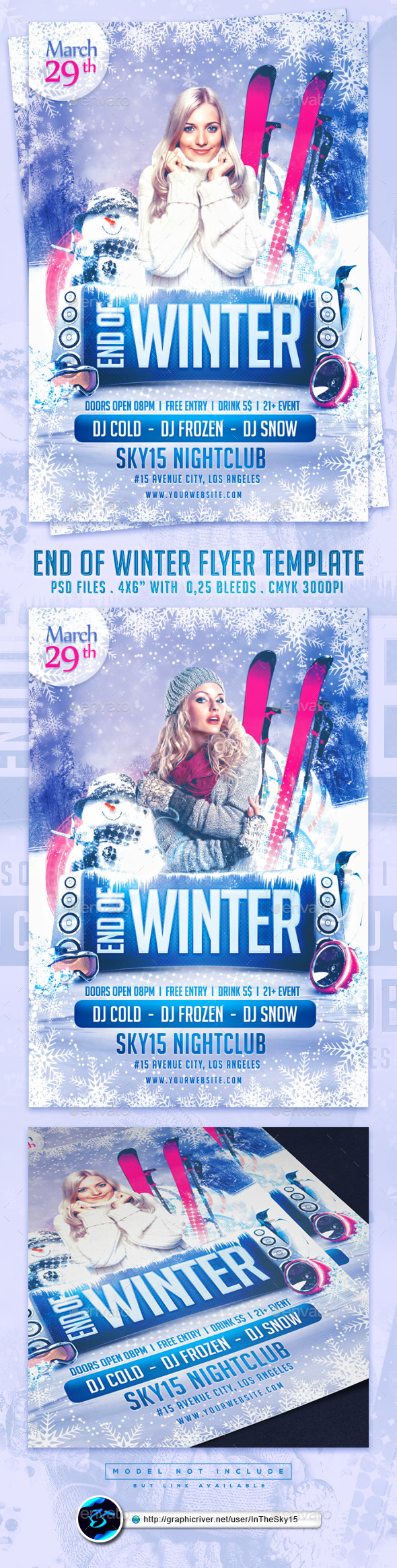 End of Winter Flyer Template - Flyers Print Templates