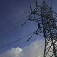 Power Line Against the Blue Sky - VideoHive Item for Sale