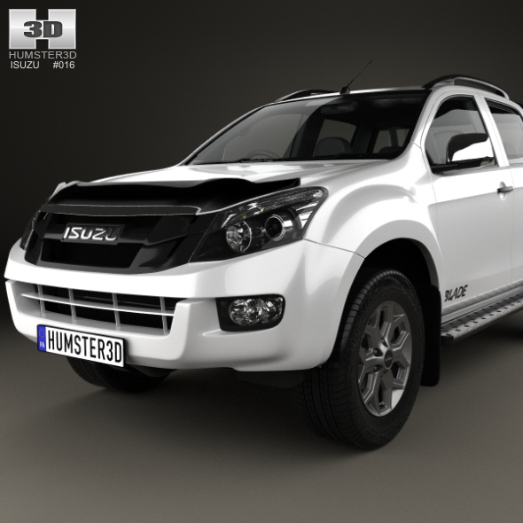 isuzu d max double cab blade 2014 by humster3d 3docean. Black Bedroom Furniture Sets. Home Design Ideas