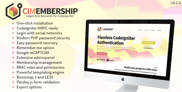 CodeIgniter Membership - Social Login, Adminpanel and Roles/Permission System - CodeCanyon Item for Sale