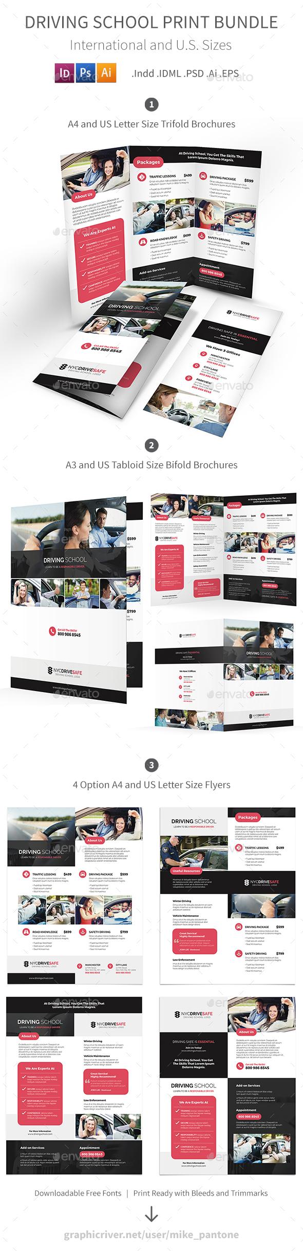 Driving School Print Bundle - Informational Brochures
