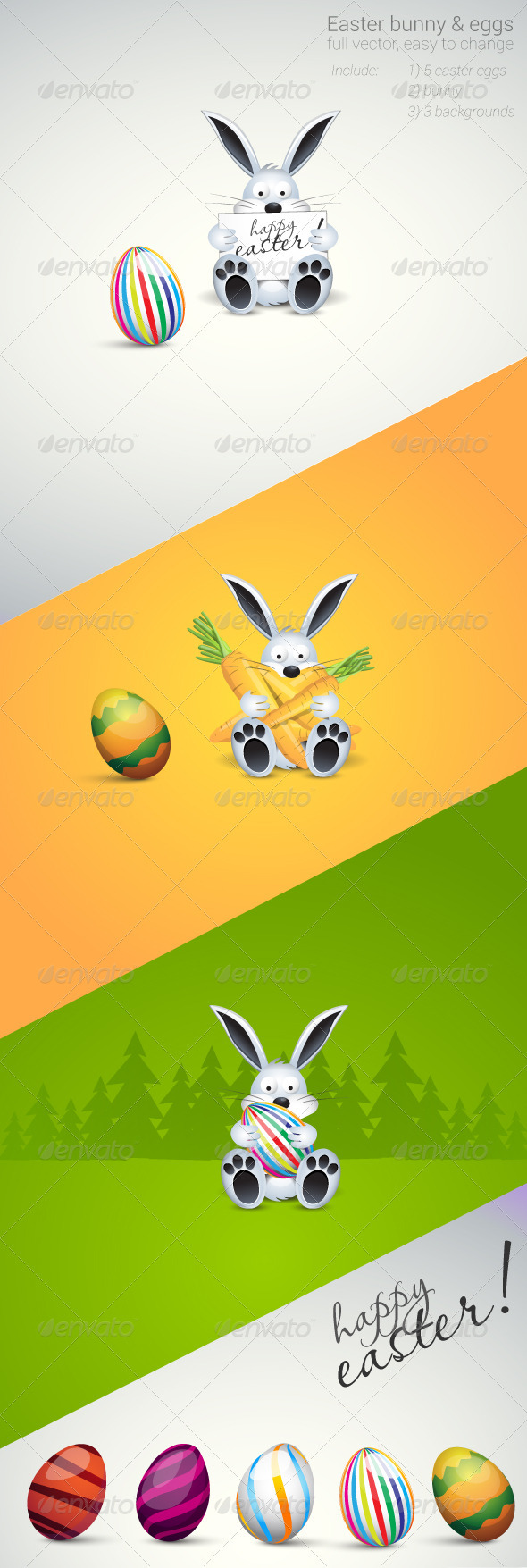 Easter Bunny & Eggs - Seasons/Holidays Conceptual