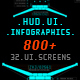 HUD UI Infographics Pack 800+ - VideoHive Item for Sale