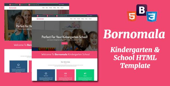 Bornomala – Kindergarten & School HTML Template
