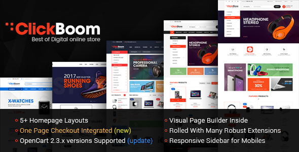 ClickBoom – Advanced OpenCart 2.3 Shopping Theme