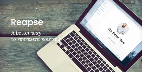 Reapse - Creative vCard / Resume / CV WordPress Theme