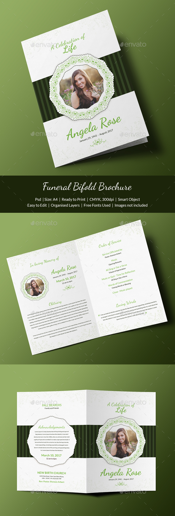 Funeral Program Template - Print Templates