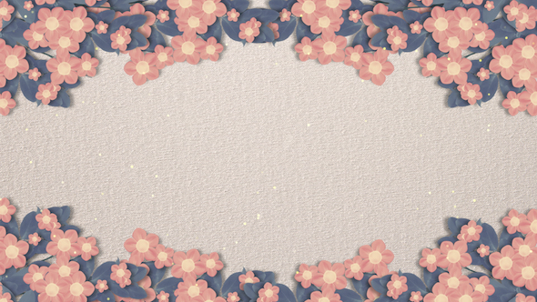 Blooming paper flower background by tykcartoon videohive play preview video mightylinksfo