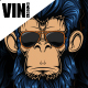 Blue Badass Monkey Vector - GraphicRiver Item for Sale