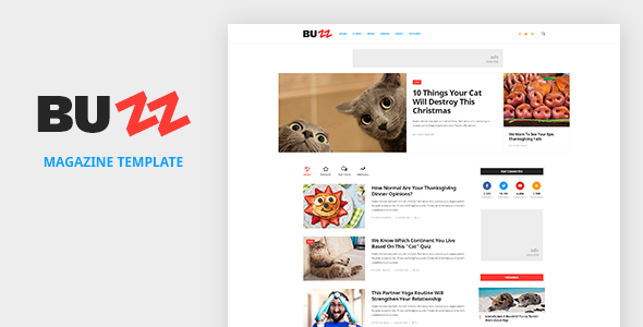 BUZZ – News, Magazine, Viral & Buzz PSD Template