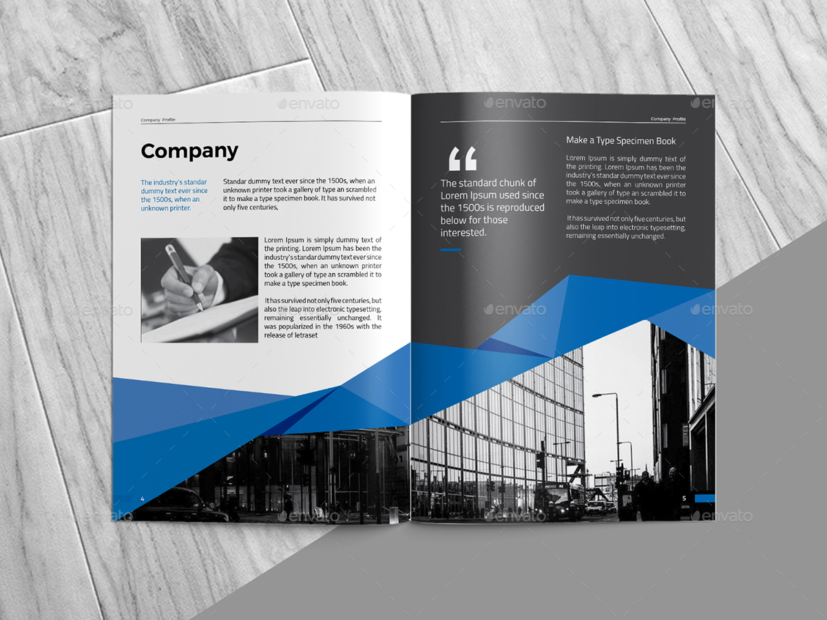 Company profile by colordroop graphicriver for It company interior