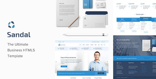 Sandal - Ultimate Responsive Business HTML Template - Business Corporate