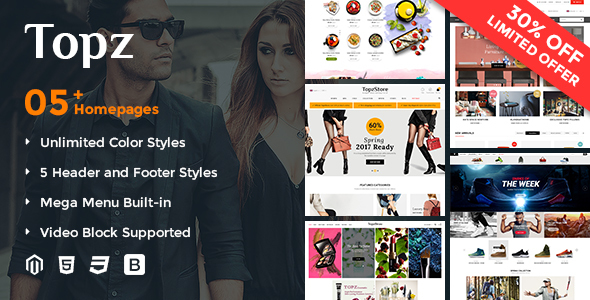 SM TopzStore – Responsive and Customizable Magento 2 Theme