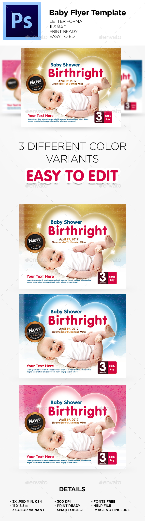 Flyer Template - Baby Flyer - Flyers Print Templates