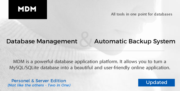 MDM - My Databases Management - All tools in one point for databases - CodeCanyon Item for Sale