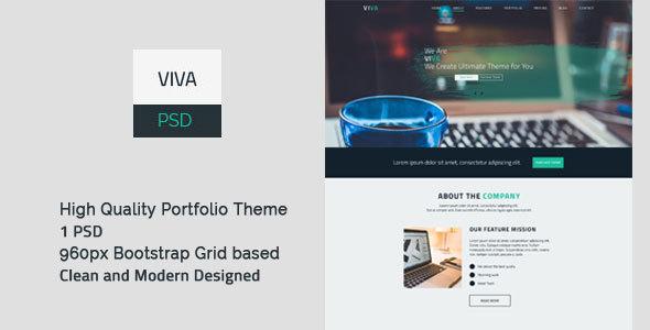 VIVA – Portfolio PSD Template