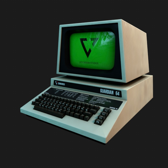 Retro Computer - 3DOcean Item for Sale