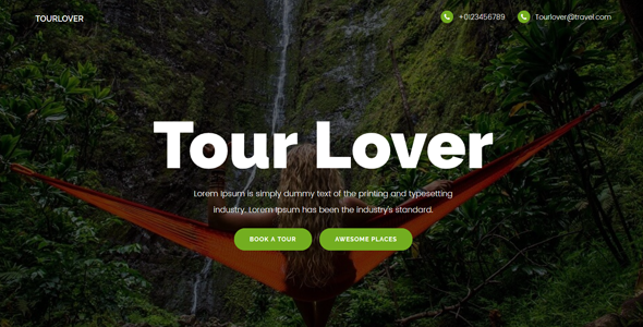 Tourlover – Travel agency landing page Template