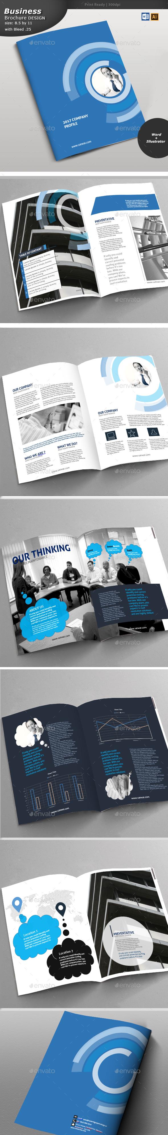 Company Profile Brochure - Print Templates