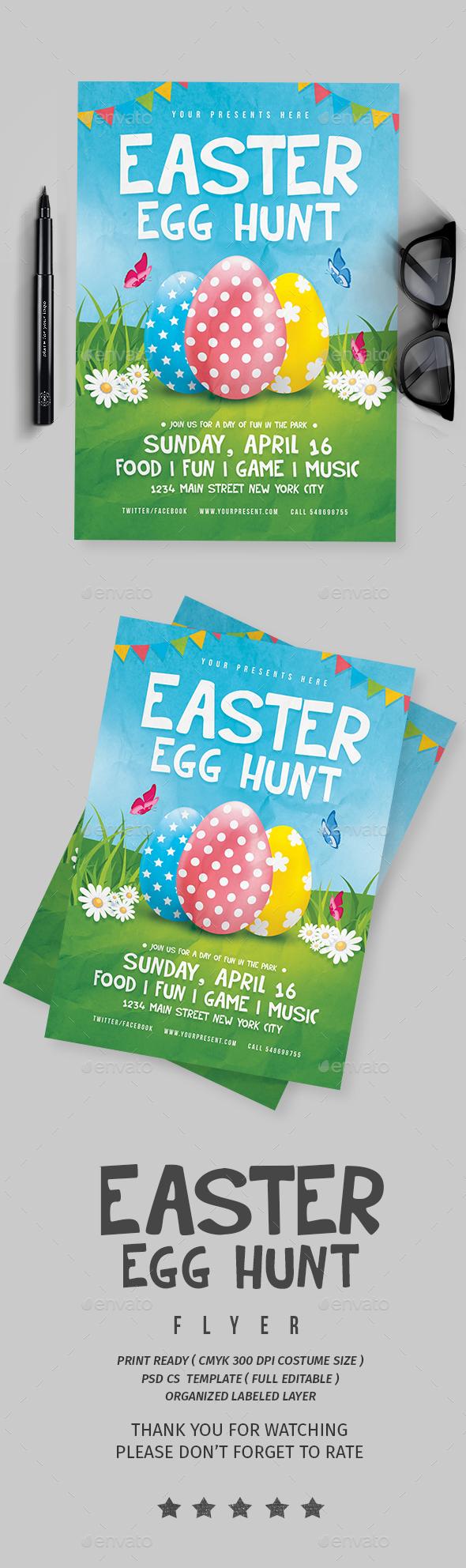 Easter Egg Hunt - Flyers Print Templates