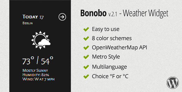 Bonobo – Weather Widget