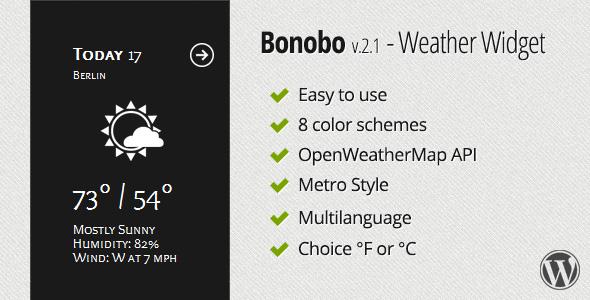 Bonobo - Weather Widget - CodeCanyon Item for Sale