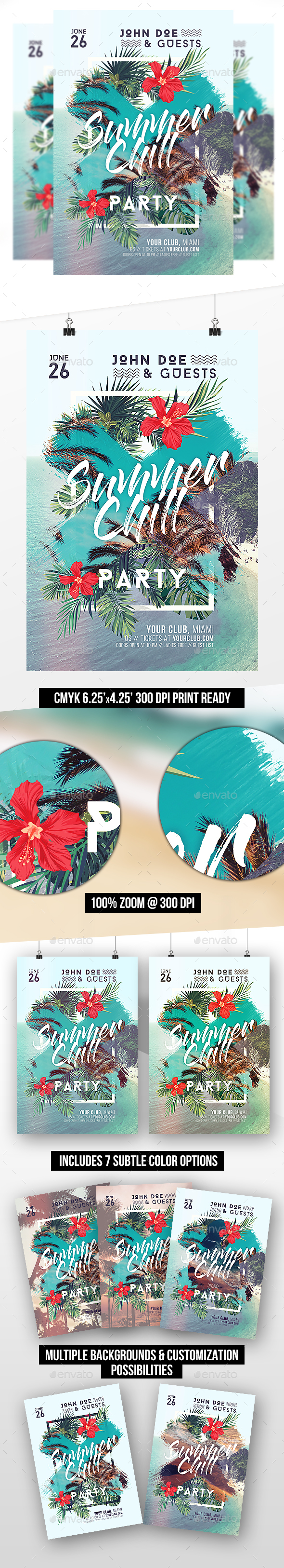 Summer Chill Party Template - Clubs & Parties Events