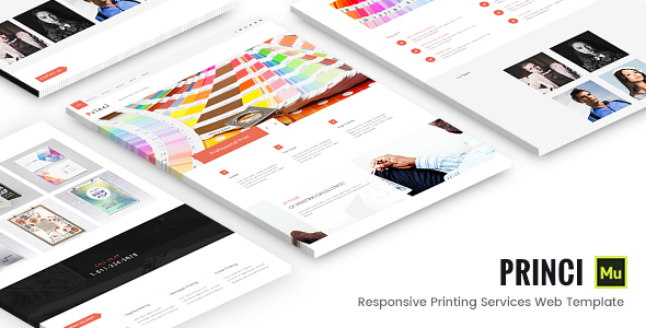 Princi - Responsive Printing Services Web Template - Corporate Muse Templates