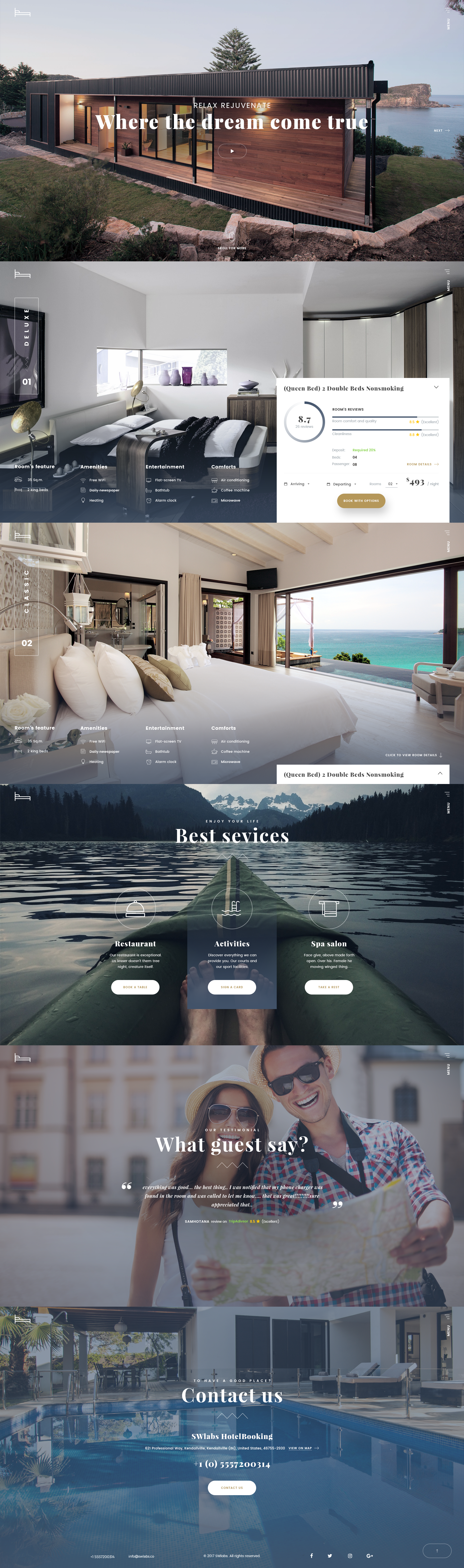 Hotel Booking - Travel Hotel Booking PSD Template by TheRubikTemplate