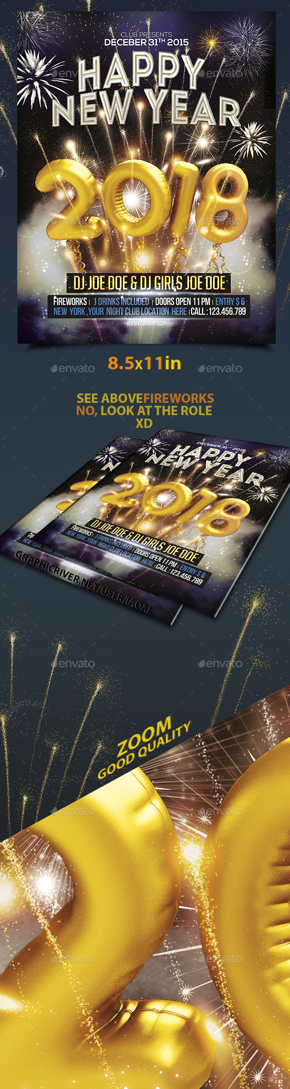Happy New Year Flyer - Holidays Events