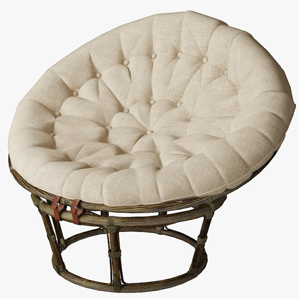 Papasan Rattan Chair - 3DOcean Item for Sale