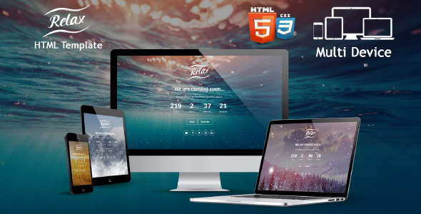 Relax – Coming Soon HTML Template