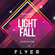 Electro Light Fall - Flyer Template