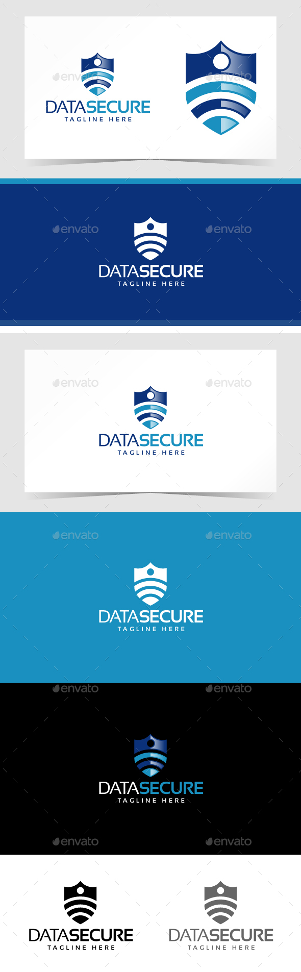 Data Secure Logo Template - Symbols Logo Templates