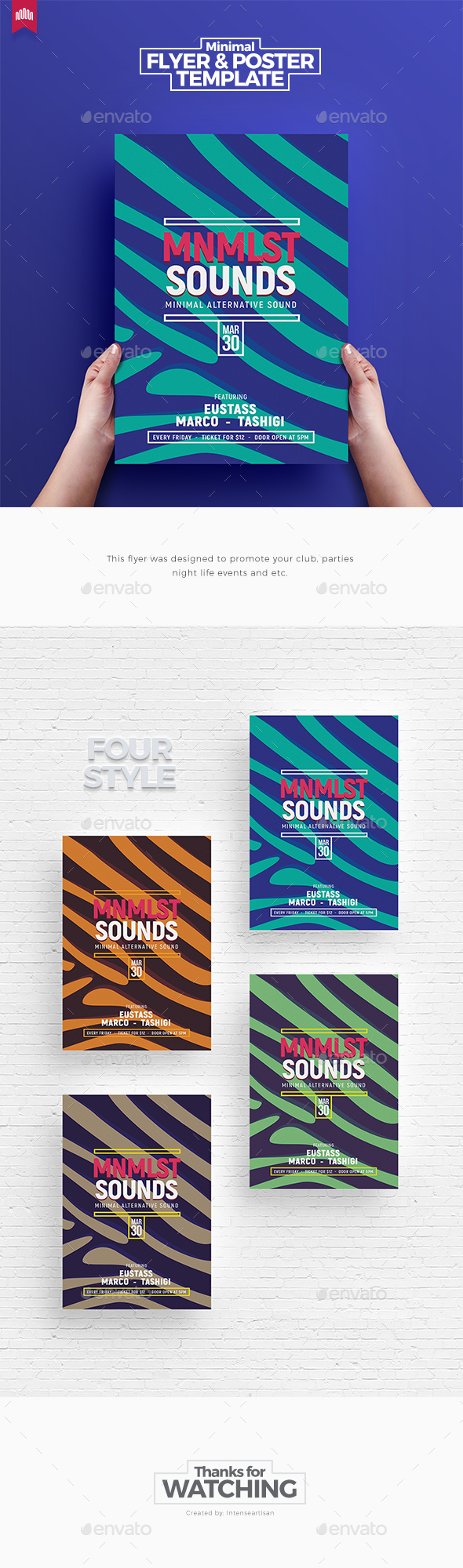 Minimalist Sound - Flyer Template - Clubs & Parties Events