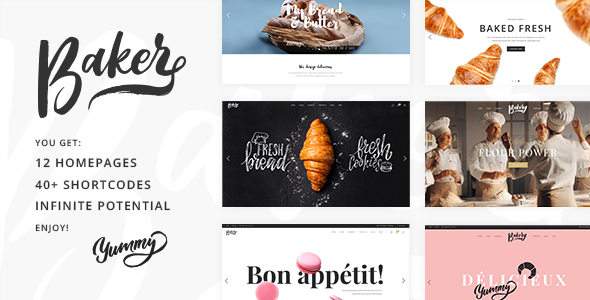 Baker - A Fresh Theme for Bakeries, Cake Shops, and Pastry Stores