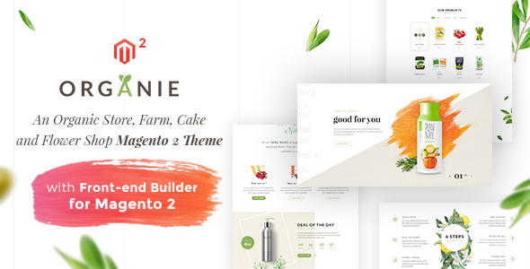 Organie – An Organic Store, Farm, Cake and Flower Shop Magento 2 and 1 Theme