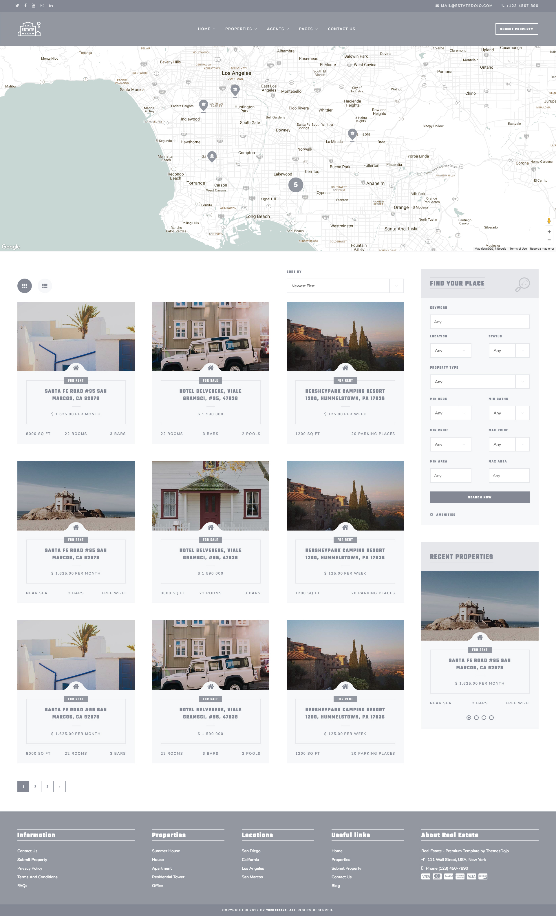 Real Estate Dojo - HTML/CSS real estate agency website template by ...