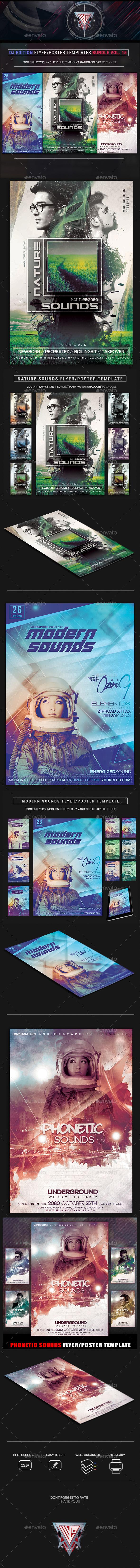 Guest DJ Party Flyer/Poster Bundle Vol. 15 - Events Flyers